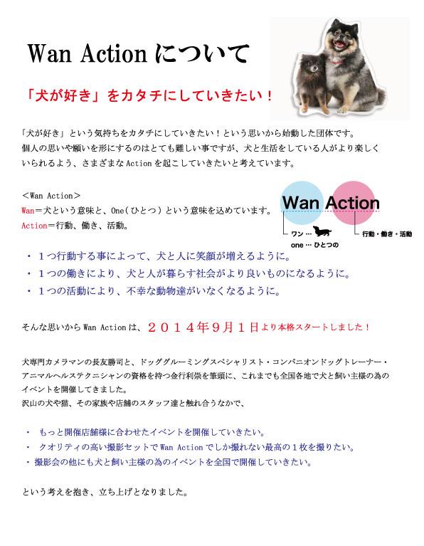HP WANACTIONについて